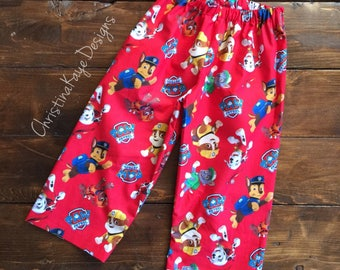 size 3T READY TO SHIP Custom Paw Patrol pajama lounge pants