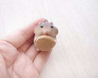 cute hamster 9 necklace