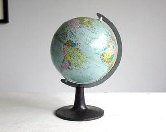 vintage metal tin globe