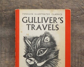 Penguin Illustrated Classics Gulliver's Travels 1930s vintage book by Jonathan Swift
