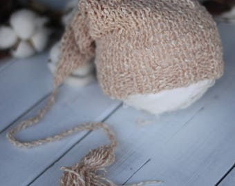 new born knitted hat,baby ,photo prop, baby boy sleeping knitted hat