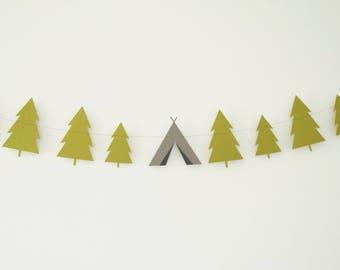 Forest Garland, Camping Garland, Tent Garland, Nature Garland, Tree Garland