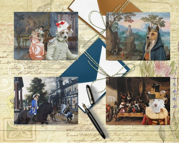 Portuguese Podengo Art,Podengo Postcard Set,Podengo Greeting Card Set, Podengo Sticker, Podengo Vinyl Decal, Podengo Portrait, Podengo Print