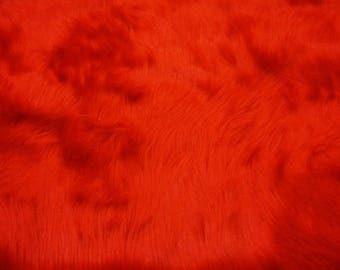 Plush Faux Fur Throw Blanket Bedspread - Mongolian red