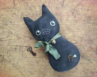 Juju Doll, Lucky Cat Doll, Lucky Juju Kitty, Voodoo, Magickal, Witchy Kitty, Good Luck Cat, Hoodoo Poppet