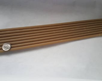 """56 Organic Beeswax tapers candles 1/4"""" x 12"""""""
