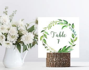 Reception Table Numbers 1 - 10 (Ready to Ship) - Breezy Leaf (Style 13701)