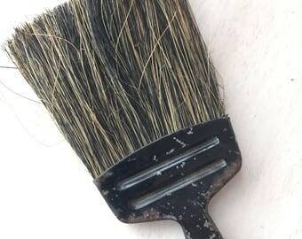 Mini horsehair broom with metal handle