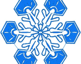 10 Snowflakes for 4x4 Hoop Machine Embroidery Designs zip file PES,JEF, VP3,dst, hus format.