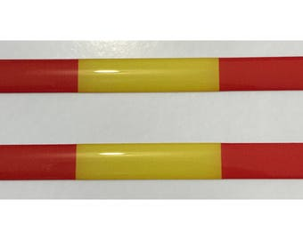 Spain Domed Gel Stickers (2x) for Laptop Tablet Book Fridge Guitar Motorcycle Helmet ToolBox Door PC Smartphone