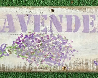 Rustic Farmhouse Lavender Sign