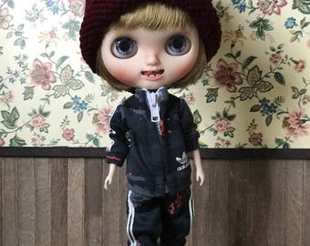Girlish - Sports wear Set for Blythe doll - dress / outfit