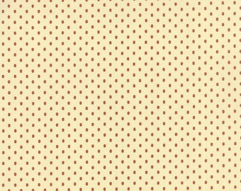 20% off thru 2/22 BRAMBLEWOOD- cheddar orange oval dots on cream 31524-12 moda Civil War fabric by 1/2 yard