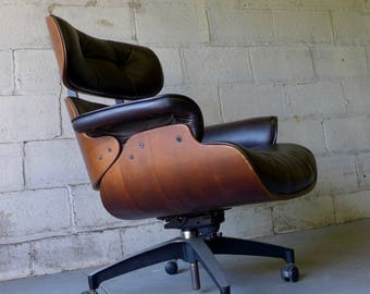 tufted mid century modern eames style lounge chair