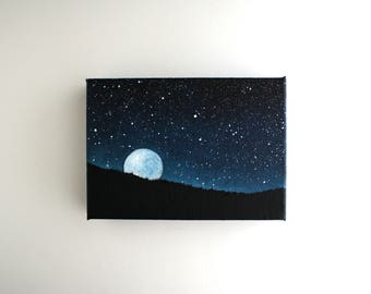 Moonrise Painting - 5 x 7