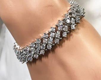 Bridal bracelet, Wedding jewelry,bridal jewelry, bridesmaid bracelet, Crystal bracelet, crystal bracelet, bridesmaid jewelry