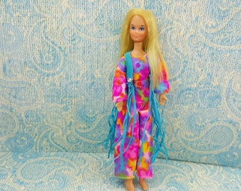 Rock Flowers Heather doll  wearing 4050 Long Fringe fashion Outfit fits 6.5 inch dolls Topper Dawn Angie Glori Jessica