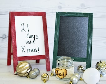 Christmas countdown White Board Chalk board