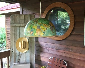 Vintage Globe Repurposed into OOAK Pendant Lighting