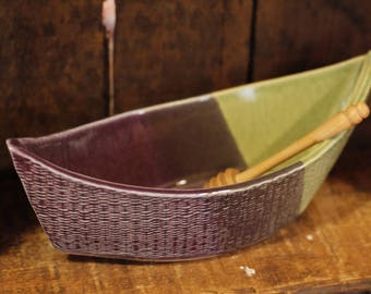 Dory Dip Boat in Lupin Lane by Village Pottery PEI