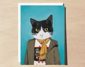 Lupe - Greeting Card - Blank Inside - Cats In Clothes