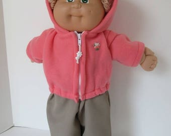 "16"" Girl Cabbage Patch Coral Hooded Jacket"