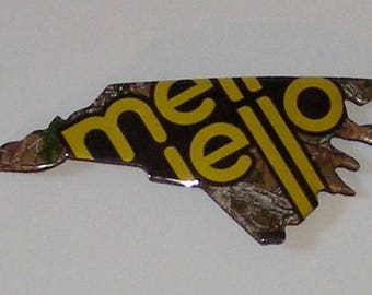 North Carolina (NC) Shaped Magnet - Mello Yello