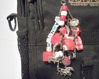 "Versatile Bag Charm Junk Dangle Themed ""The Barnyard"""