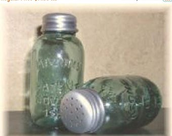 On Sale Mason Jar Salt & Pepper Shakers New Vintage Antique Style