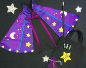 Personalised magician cape and wand set, Harry Potter gift , wizard cape