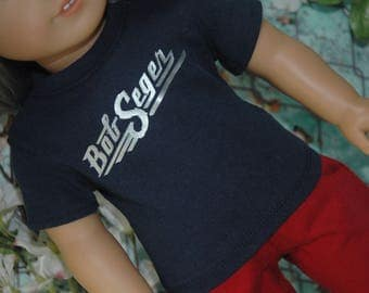 American, made, girl, boy, band, graphic, tee, shirt, fits, 18 inch doll, top, doll clothes