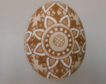 Small Chicken Egg, Ukrainian Pysanka / Easter egg / Pysanky. Etched Pysanka