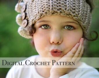 ON SALE Crochet Ear Warmers Pattern / Ruffle Ear Warmers Pattern 032 / Crochet Pattern / Crochet Headband Pattern / Ear Warmers