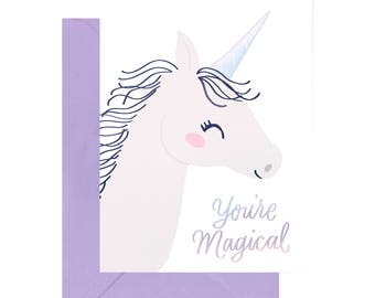 Unicorn You're Magical Occasion Card