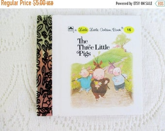 20% Summer SALE The Three Little Pigs, Original Little Little Golden Book, 1990s Miniature Classics 24 Pages-New Old Stock Unused
