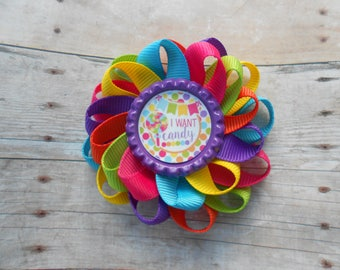 I want candy Loopy Flower Hair Bow