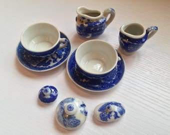 Bits and Pieces of Children's Blue and White China