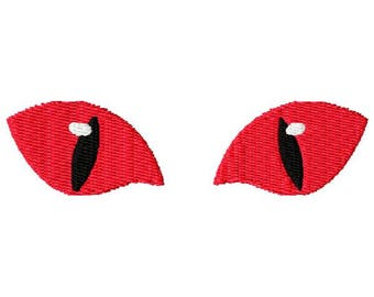 Halloween Eyes Embroidery Design - Instant Download