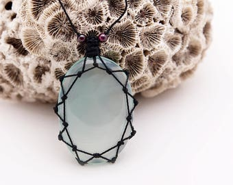 Chalcedony Jewelry, Sky Blue Necklace, Aqua Jewelry, Rustic jewelry For Her, Aqua Necklace, Boho Beaded Necklace, Women Chalcedony Necklace