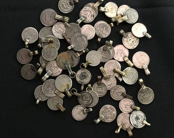 Mixed Lot of 50 Kuchi COINS with Loops Jewelry Making Costume Supply CL2 Uber Kuchi®