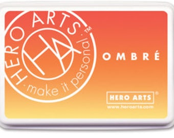 Hero Arts: AF401 Ombre Serengeti Sunset, red, orange, and yellow