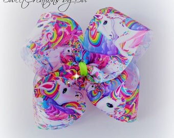 Big bows jojo bows boutique bows party gift handmade unicorn