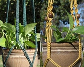 Custom Order - 2 Macrame Plant Hangers for AMY G.