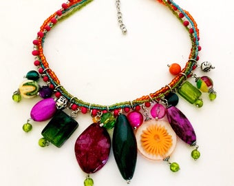 Beautiful colorful summer necklace