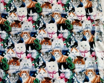 Cats Kittens Jenny Newland David Textiles Quilting Craft Fabric Material 1.5 yrd