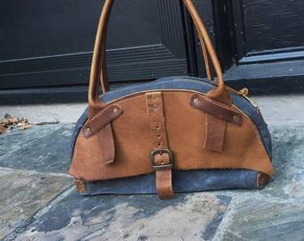 Waxed Canvas Handbag
