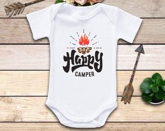 Happy Camper Onesie®, Boho Baby Clothes, Camping Onesie, Camping Trip Onesie, Gender Neutral Onesie, Campfire Onesie, Cute Baby Clothes