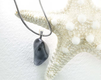 Jewelry Sea Glass Pendant Gray Gift by VERO for SeaStyle
