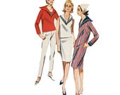 RETRO Vintage 1960s Butterick 3011 Sewing Pattern Sailor Top, Dress, Skirt, Pants, Nautical, Popeye and Olive