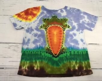 3T Toddler Carrot Garden Tie Dye Tee Shirt